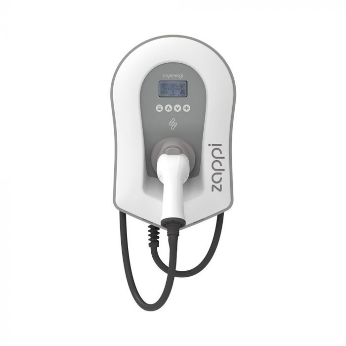 Zappi Tethered EV Charger White - Voltaic Energy Systems