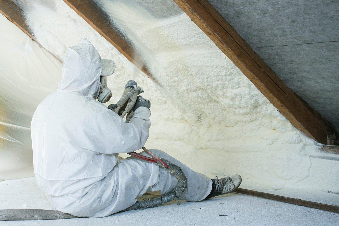 Attic Insulation - Spray Foam Insulation | Voltaic Energy Systems